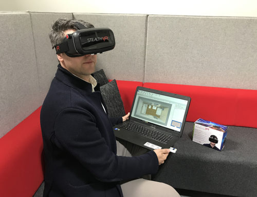 Mit der Virtual Reality-Brille ist das neue Badezimmer zum Greifen nahe