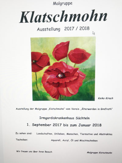 Info Flyer zur Malgruppe Klatschmohn 2017 2018