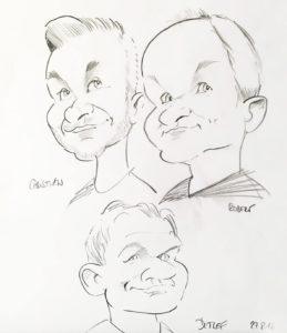 Mitarbeiter Karikatur